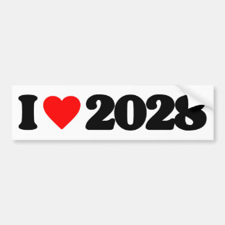 I LOVE 2028 BUMPER STICKERS
