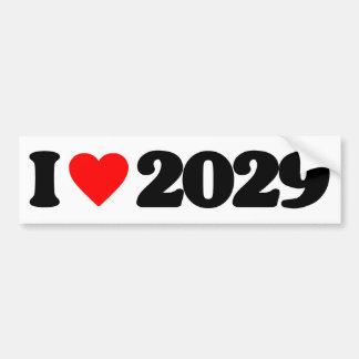 I LOVE 2029 BUMPER STICKER