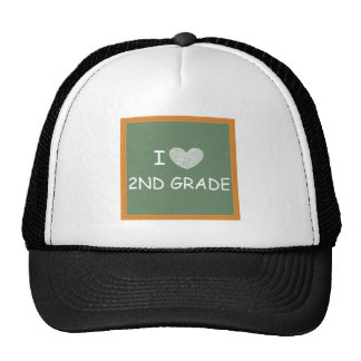 I Love 2nd Grade Cap