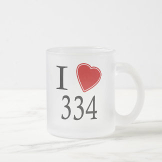 I Love 334 Montgomery Frosted Glass Mug