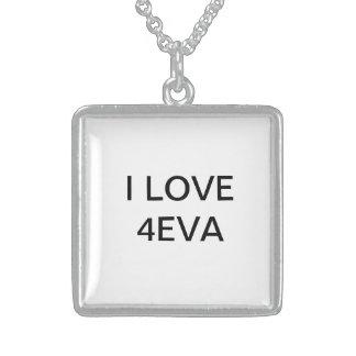 I LOVE 4EVA Silver Neckalace Necklace