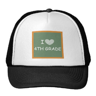 I Love 4th Grade Cap