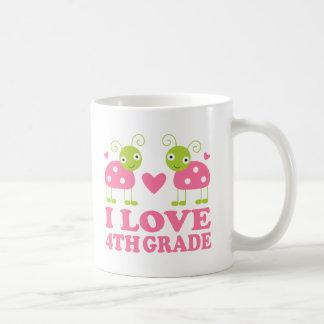 I Love 4th Grade Ladybug Coffee Mug