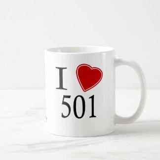 I Love 501 Little Rock Basic White Mug