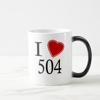 I Love 504 New Orleans Magic Mug