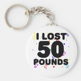 I Love 50 Pounds Party Basic Round Button Key Ring