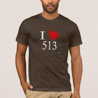 I Love 513 Cincinnati T-Shirt