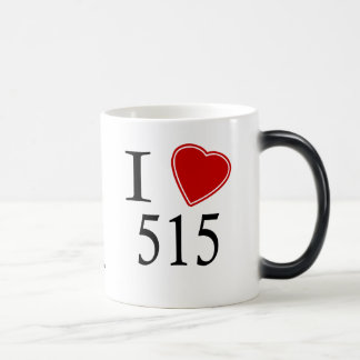 I Love 515 Des Moines Morphing Mug