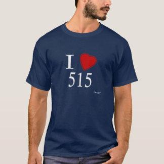 I Love 515 Des Moines T-Shirt