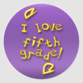 I Love 5th Grade Stickers