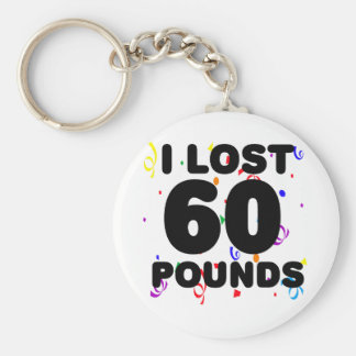 I Love 60 Pounds Party Basic Round Button Key Ring