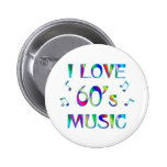 I Love 60's Pinback Buttons
