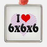 I love 6x6x6 christmas ornaments