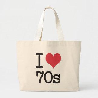 I Love 70s Products & Designs! Jumbo Tote Bag