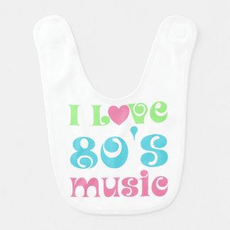 I Love 80's Music Baby Bib
