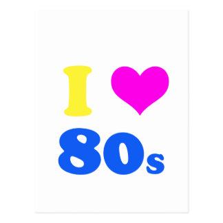 i love 80's postcard