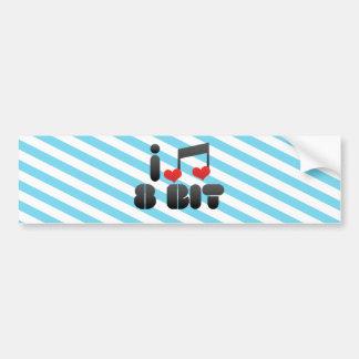 I Love 8 Bit Bumper Stickers