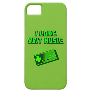 I Love 8bit Music Retro Digital Art Cartoon Style Barely There iPhone 5 Case