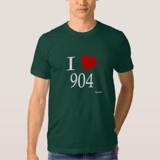 I Love 904 Jacksonville Tshirts