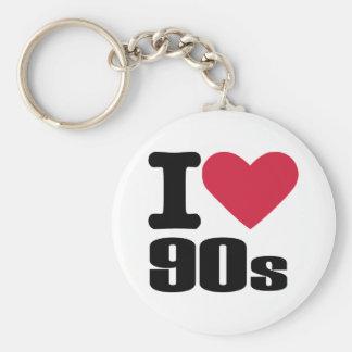 I love 90's basic round button key ring