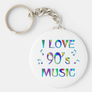 I Love 90's Basic Round Button Key Ring