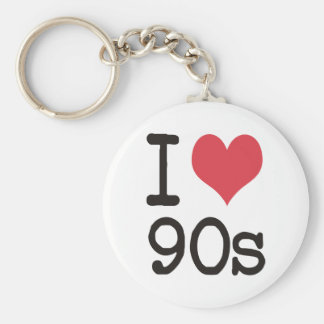 I Love 90s Products & Designs! Basic Round Button Key Ring