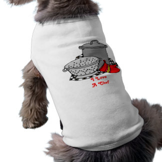 I love a chef Cooking Pot & Strainer Sleeveless Dog Shirt