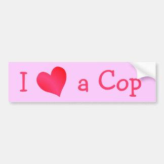 I Love a Cop Bumper Sticker