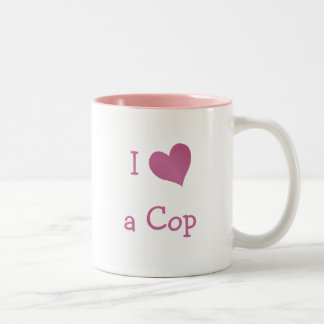 I Love a Cop Two-Tone Coffee Mug
