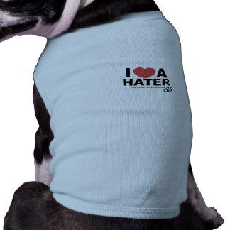 I Love A Hater Puppy T's Sleeveless Dog Shirt