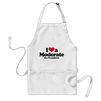 I Love a Moderate for President Standard Apron