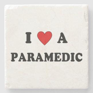 I Love A Paramedic Stone Coaster
