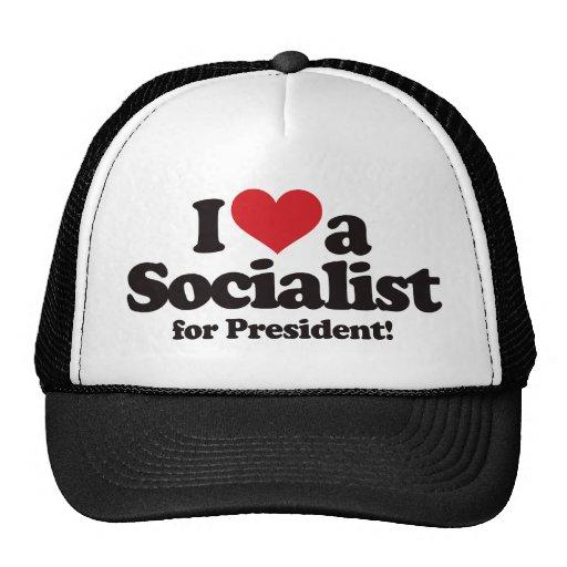 I Love a Socialist for President Mesh Hats
