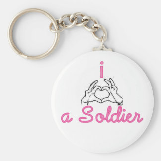 i love a soldier key chains