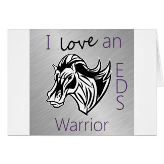 I love a warrior png greeting card