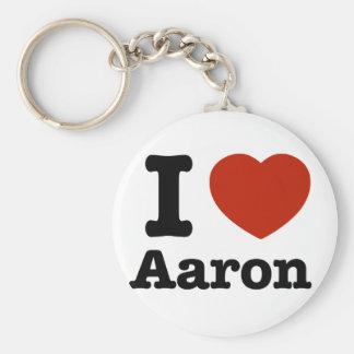 I love Aaron Basic Round Button Key Ring