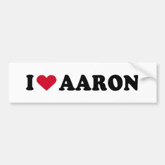 I LOVE AARON  BUMPER STICKERS
