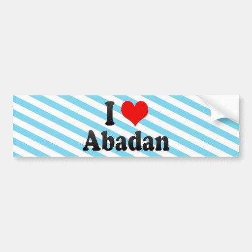 I Love Abadan, Iran Bumper Stickers