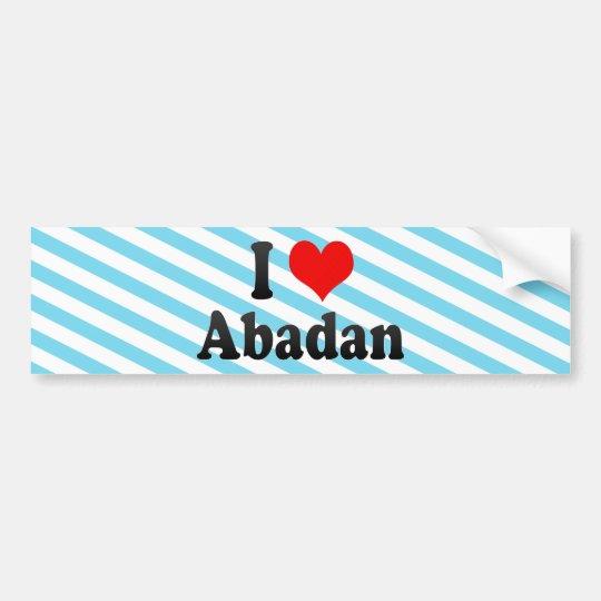 I Love Abadan, Iran Bumper Sticker