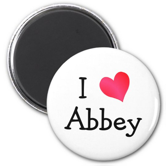 I Love Abbey Magnet