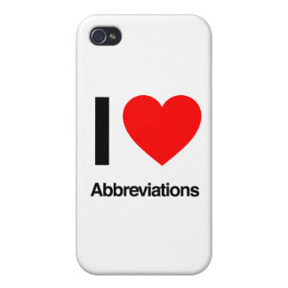 i love abbreviations iPhone 4 covers