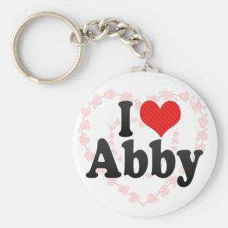 I Love Abby Key Ring