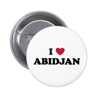 I Love Abidjan Ivory Coast 6 Cm Round Badge