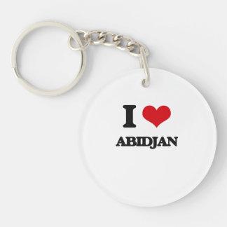 I love Abidjan Acrylic Key Chain