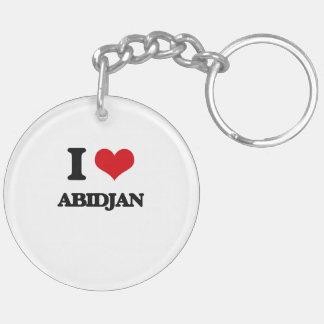 I love Abidjan Keychain