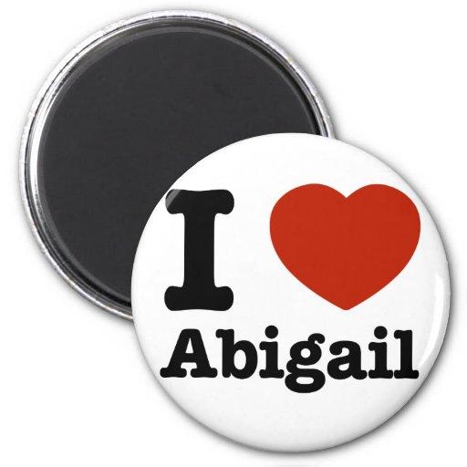 I love Abigail 6 Cm Round Magnet