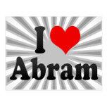 I love Abram Postcard