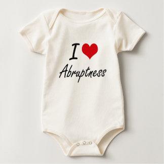 I Love Abruptness Artistic Design Bodysuit