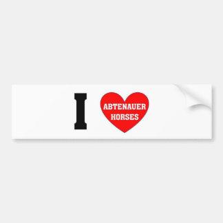 I love abtenauer Horses Bumper Sticker