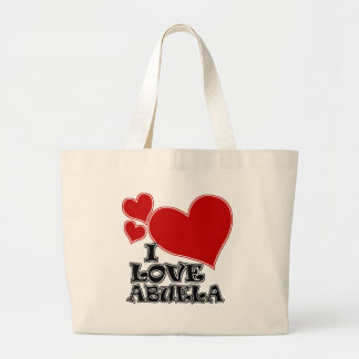 I LOVE ABUELA CANVAS BAGS